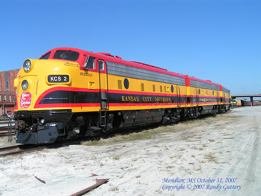 Kansas City Southern EMD F Unit KCS2 Meridian, MS