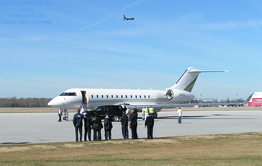 Harpo Inc.'s Global Express.  Oprah travels in style