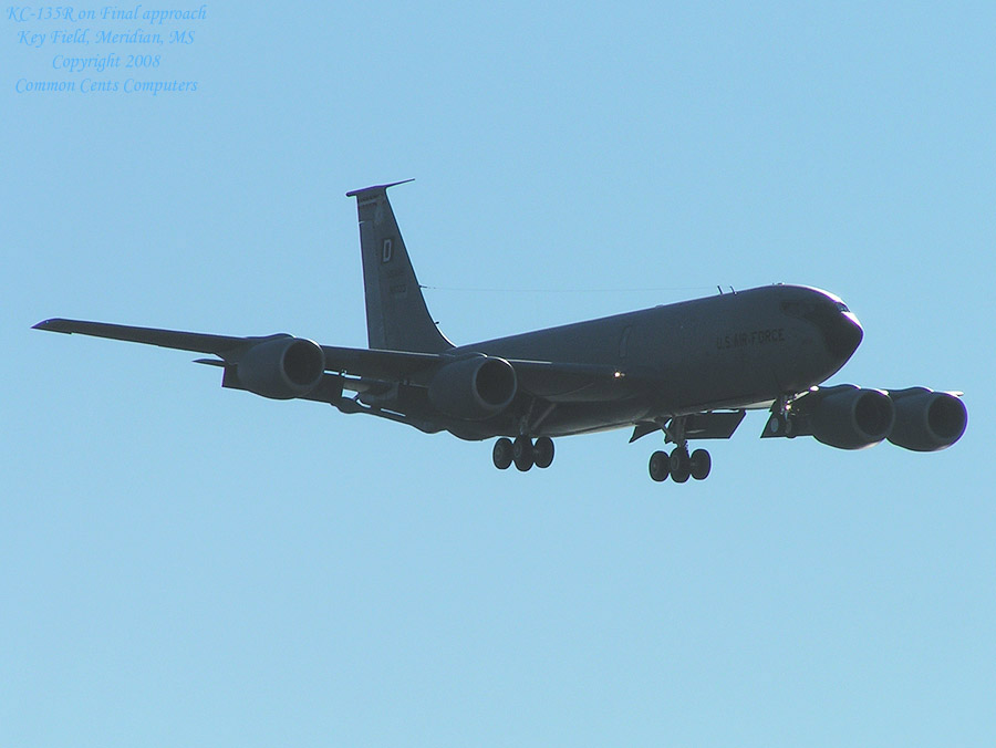 KC-135R just before touchdown, Key Field, Meridian, MS
