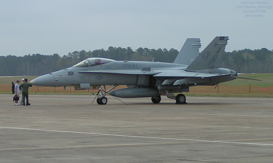 Rampagers FA-18 Hornet in working uniform.