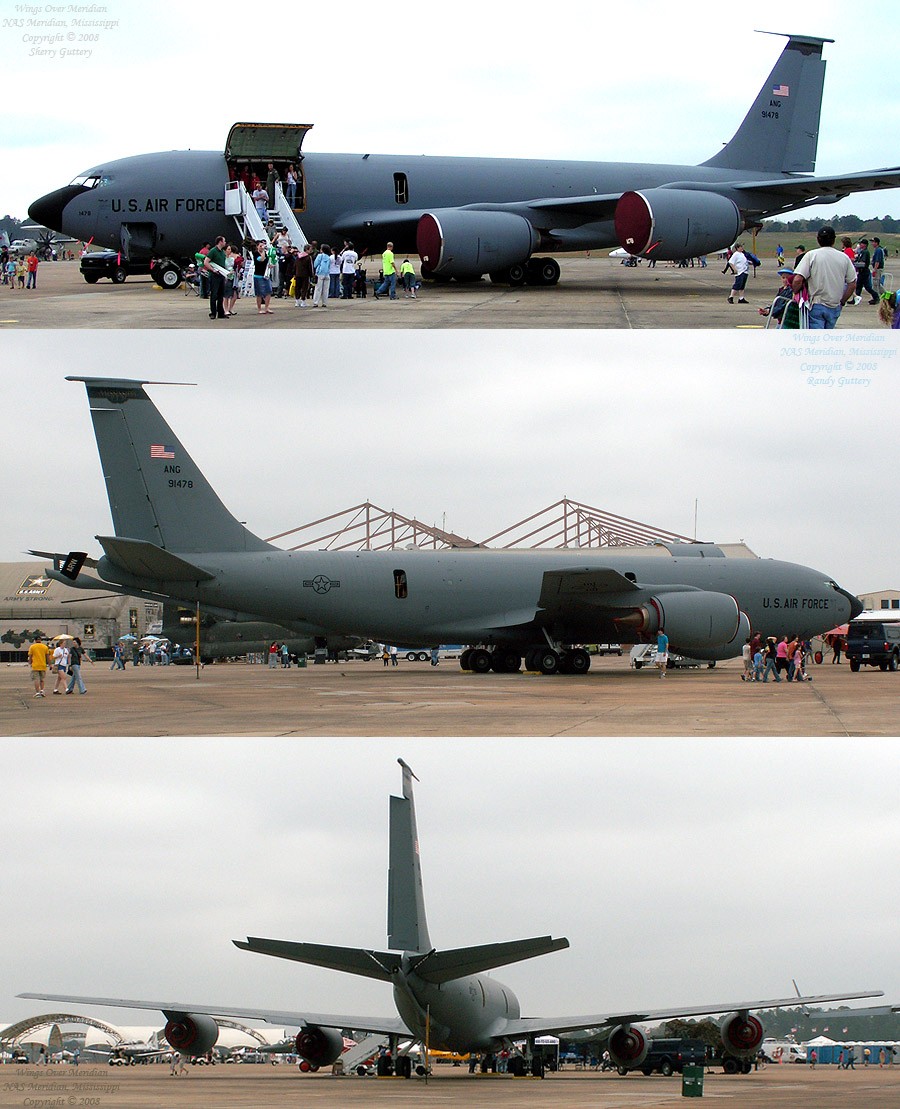 Meridan, MS own KC-135R Stratotanker. Can deliver up to 30,000 gallon of fuel inflight to other aircraft.